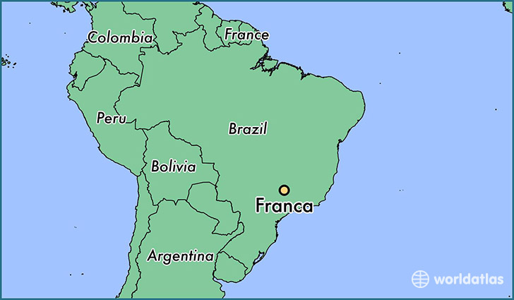 map showing the location of Franca