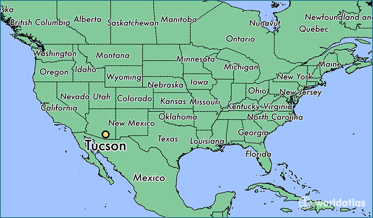 Where is Tucson, AZ? / Tucson, Arizona Map - WorldAtlas.com