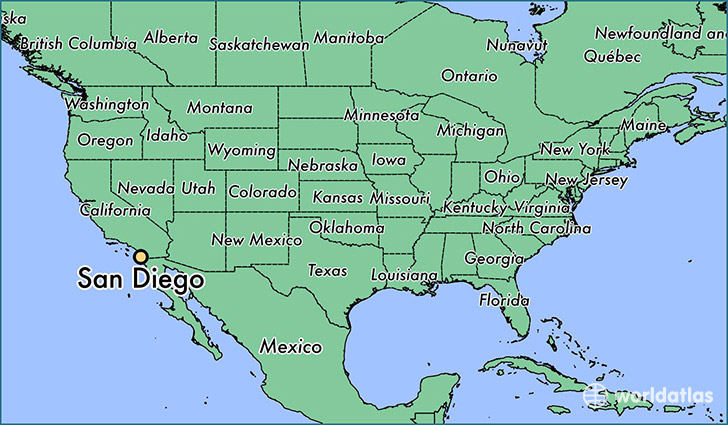 Where is San Diego CA San Diego California Map WorldAtlascom