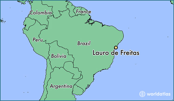 map showing the location of Lauro de Freitas