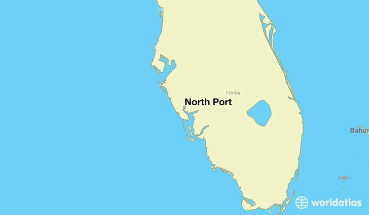 map showing the location of North Port