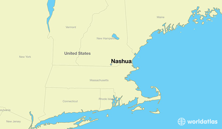 Where is Nashua NH Nashua New Hampshire Map WorldAtlascom
