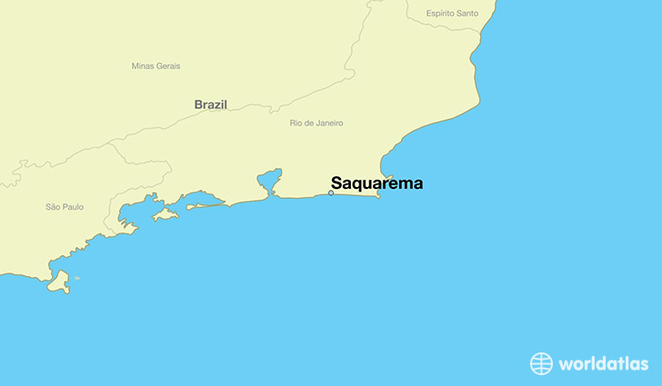 map showing the location of Saquarema
