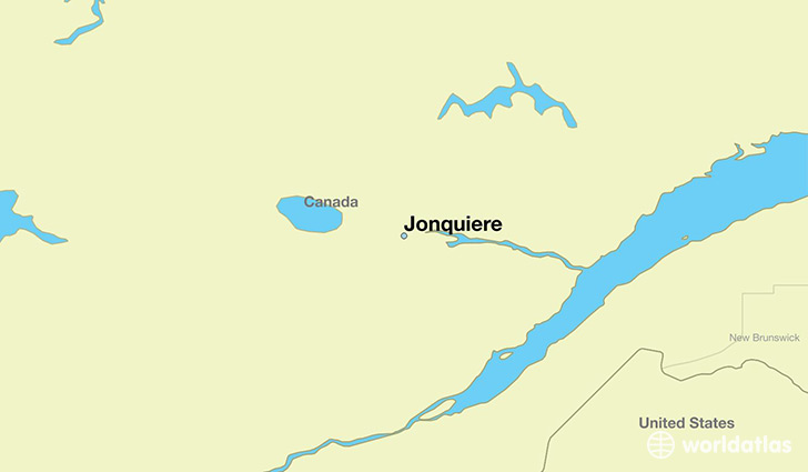 map showing the location of Jonquiere