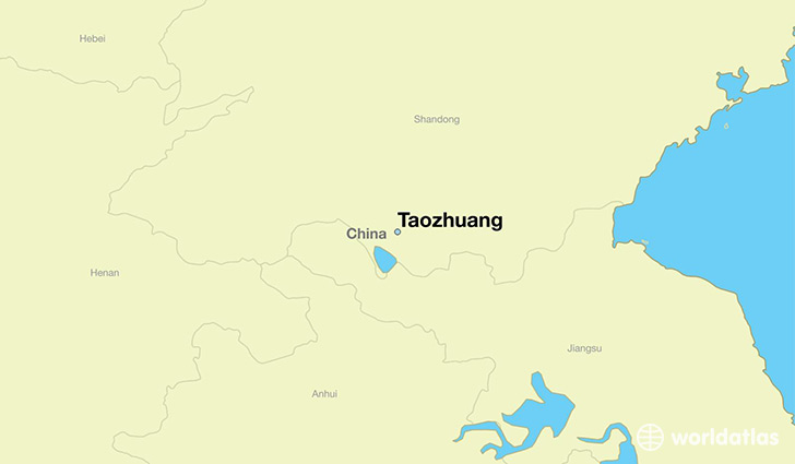 map showing the location of Taozhuang