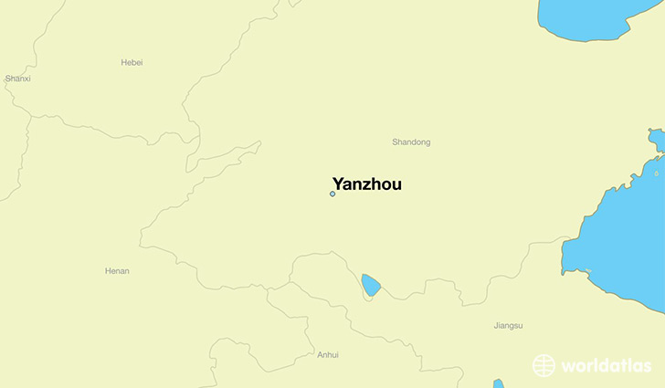 map showing the location of Yanzhou