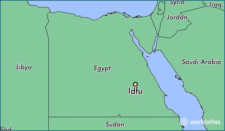 map showing the location of Idfu