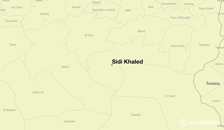 map showing the location of Sidi Khaled