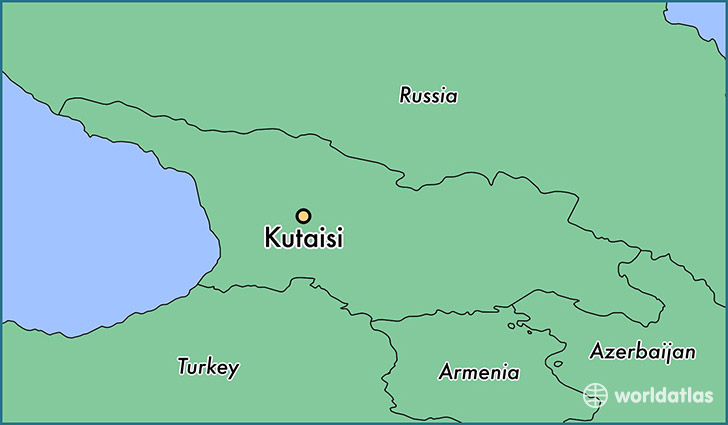 map showing the location of Kutaisi