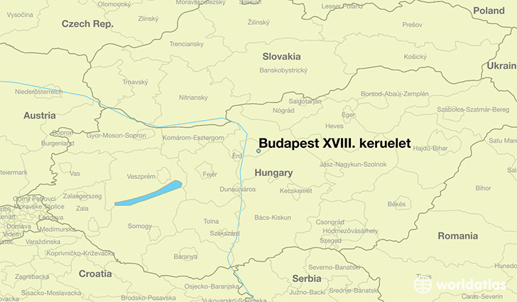 map showing the location of Budapest XVIII. keruelet