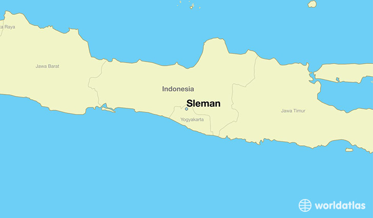 map showing the location of Sleman