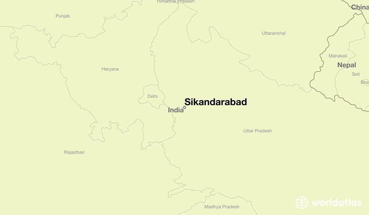 map showing the location of Sikandarabad