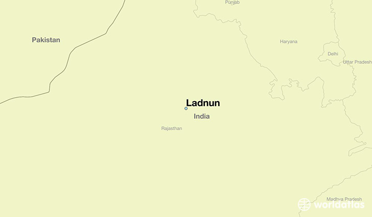 map showing the location of Ladnun
