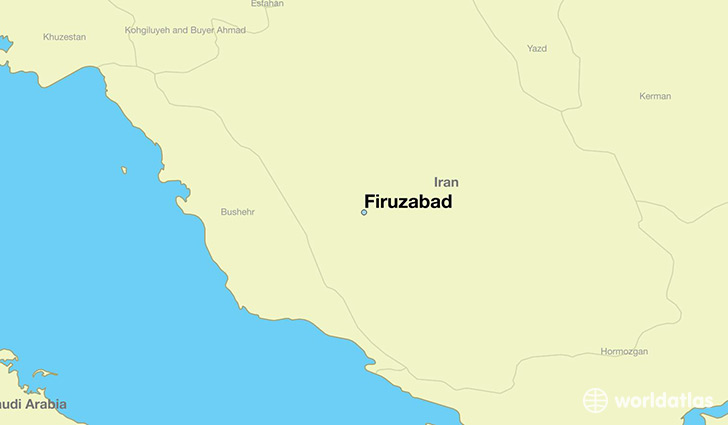 map showing the location of Firuzabad