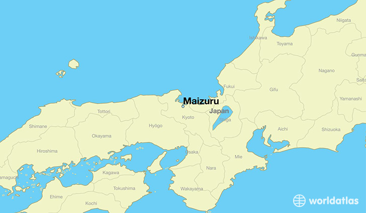 map showing the location of Maizuru