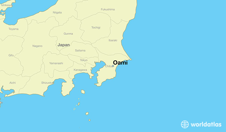 map showing the location of Oami