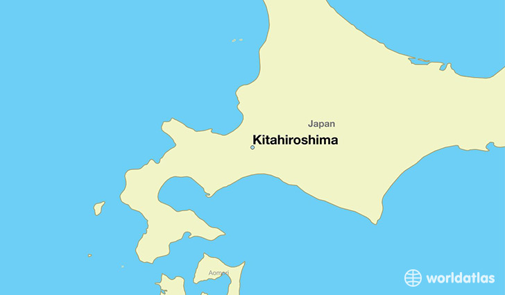 map showing the location of Kitahiroshima