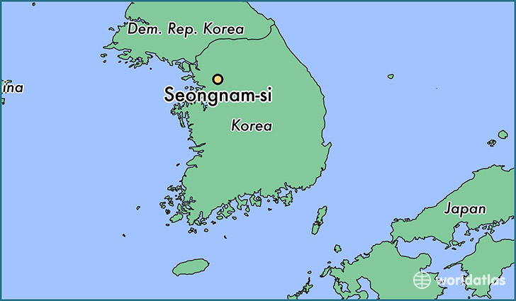 map showing the location of Seongnam-si