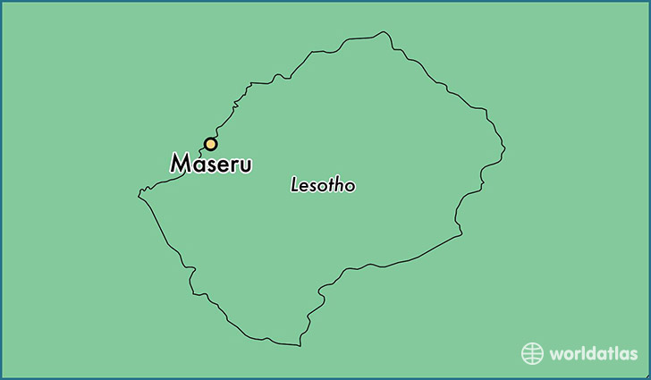 map showing the location of Maseru