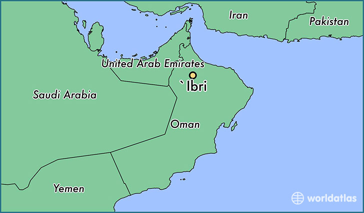 map showing the location of `Ibri