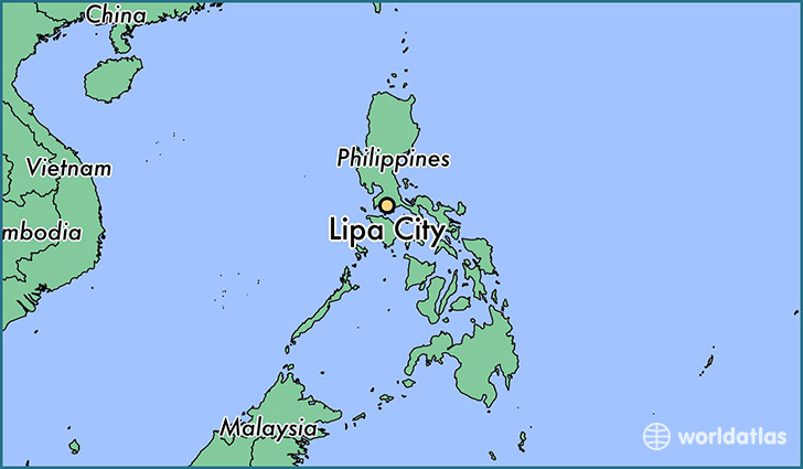 map showing the location of Lipa City
