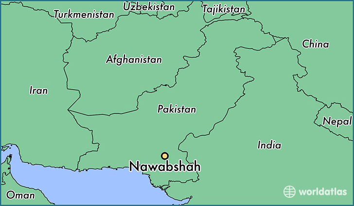 map showing the location of Nawabshah