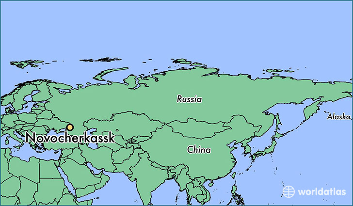 map showing the location of Novocherkassk