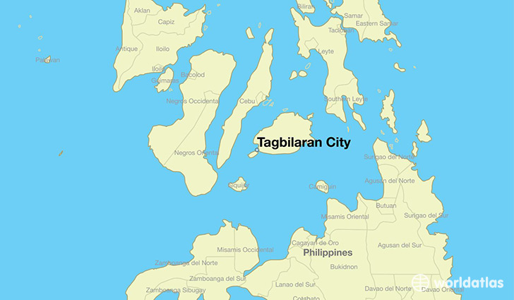map showing the location of Tagbilaran City