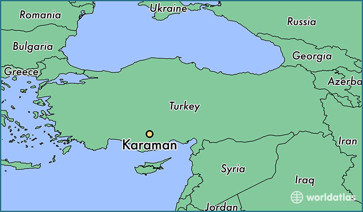 map showing the location of Karaman