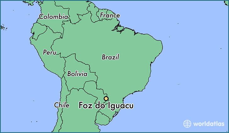 map showing the location of Foz do Iguacu