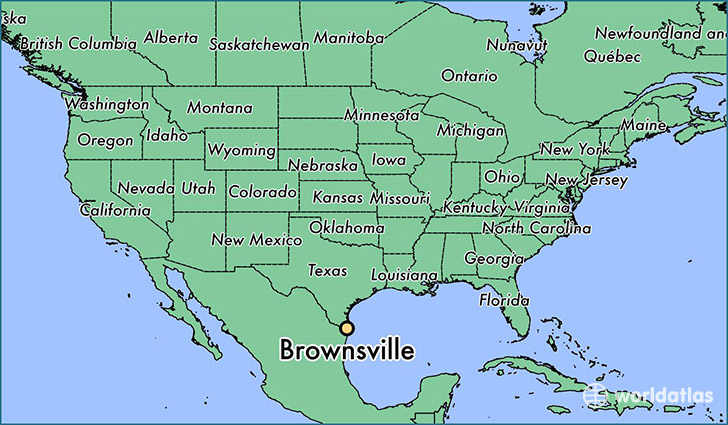 Central Texas Map Of Cities.Where Is Brownsville Tx Brownsville Texas Map Worldatlas Com