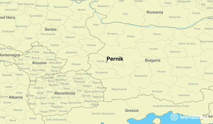 map showing the location of Pernik