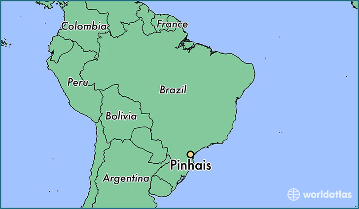 map showing the location of Pinhais