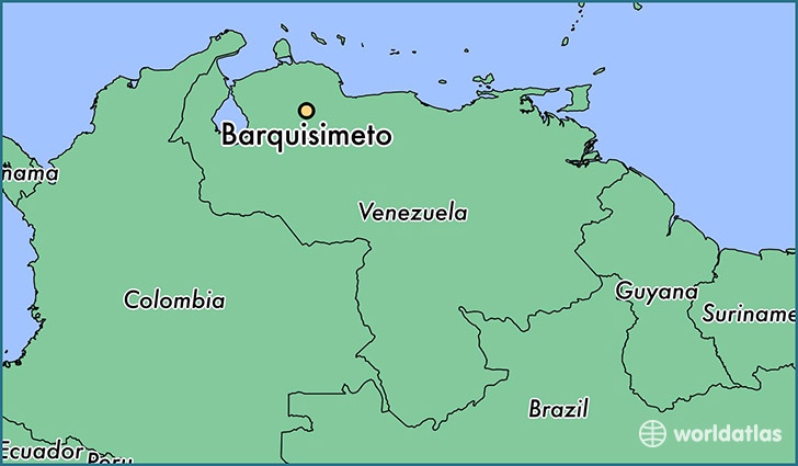 map showing the location of Barquisimeto