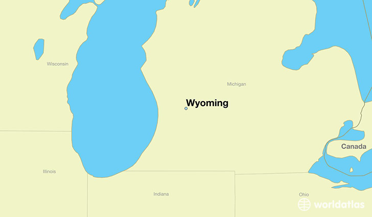 Where is Wyoming, MI? / Wyoming, Michigan Map   WorldAtlas.com