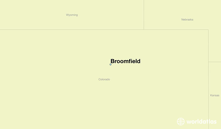 map showing the location of Broomfield
