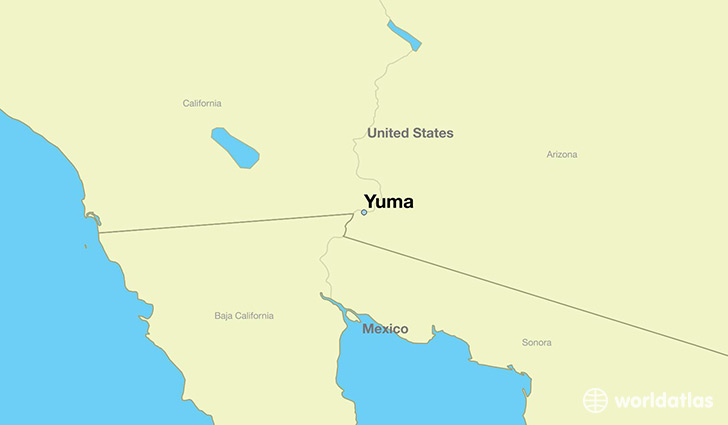 Where is Yuma, AZ? / Yuma, Arizona Map   WorldAtlas.com
