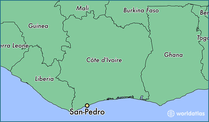 map showing the location of San-Pedro