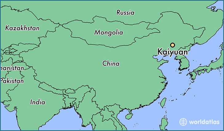 map showing the location of Kaiyuan