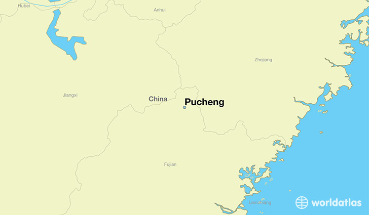 map showing the location of Pucheng