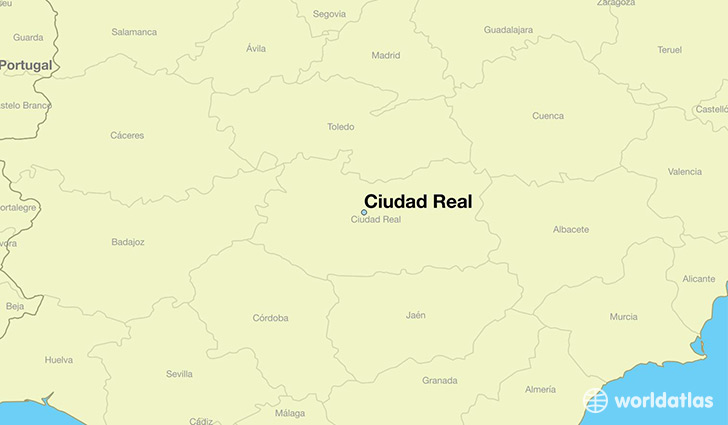 map showing the location of Ciudad Real