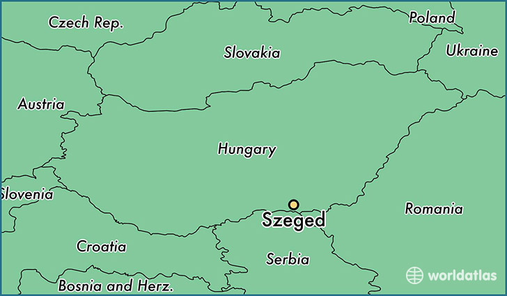 map showing the location of Szeged