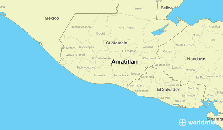 map showing the location of Amatitlan