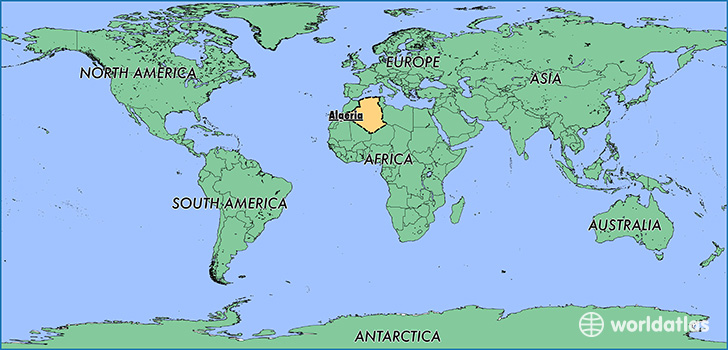 Where Is Algeria Where Is Algeria Located In The World - Algeria map