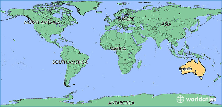 Where Is Australia Where Is Australia Located In The World - Australian map of the world