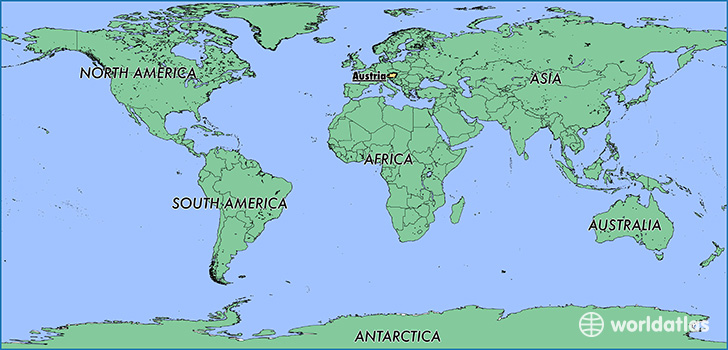 Where Is Austria Where Is Austria Located In The World - Austria on world map