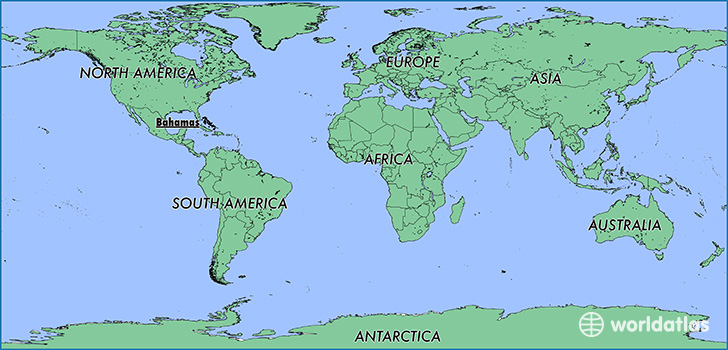 Bahamas On World Map Where is The Bahamas? / Where is The Bahamas Located in The World