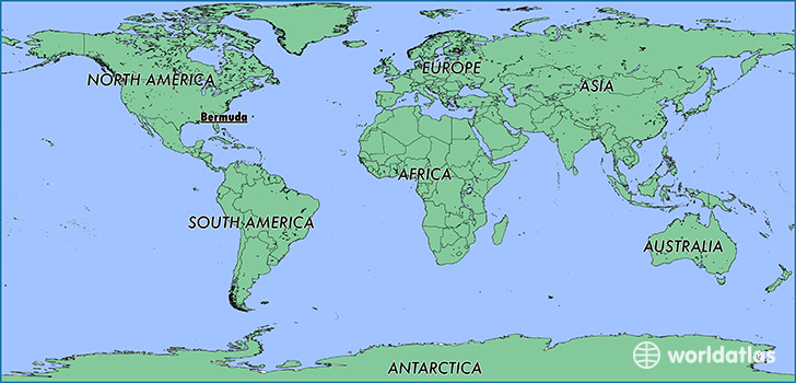 Where Is Bermuda Where Is Bermuda Located In The World - Bermuda in relation to us map