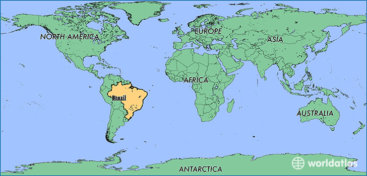 Where is brazil where is brazil located in the world brazil map showing the location of brazil gumiabroncs Gallery