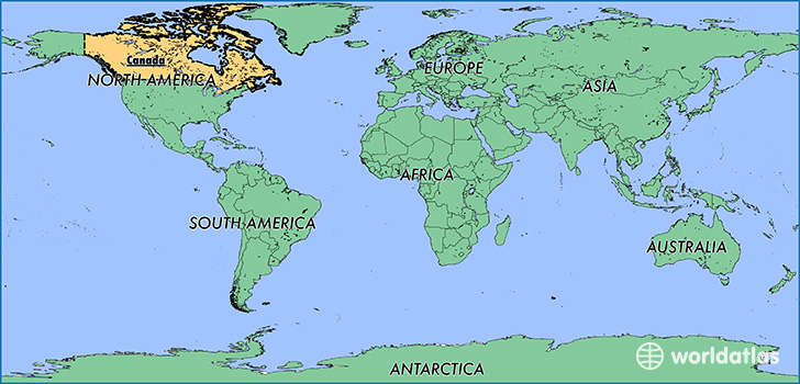 Where is canada where is canada located in the world canada map showing the location of canada gumiabroncs Choice Image
